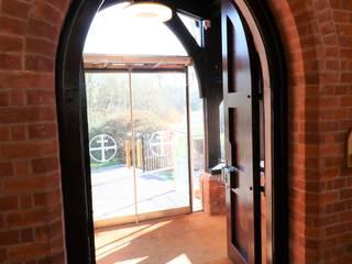 Glass door with custom designs :  Doors by Ion Glass