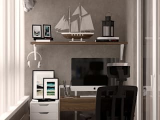 Varandas  por Студия интерьерного дизайна happy.design
