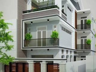 Mẫu thiết kế nhà ngang 6m dài 17m hiện đại đẹp bởi Công ty cổ phần tư vấn kiến trúc xây dựng Nam Long
