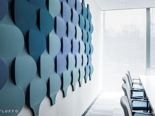Fluffo Soft Flow 3D acoustic wall panels FLUFFO fabryka miękkich ścian Modern office buildings