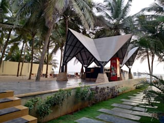 Plan B Restaurant at Anjuna, Goa:  Bars & clubs by Finch Architects