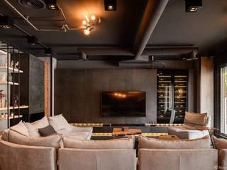 Endüstriyel Oturma Odası lifestyle_interiordesign Endüstriyel
