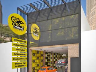 Industriële studeerkamer van Rômulo Arquitetura . Design . Iluminação Industrieel