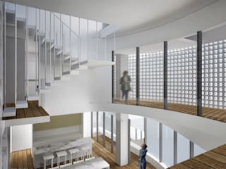 記錄生活的住宅 - 漫步蘭陽 現代房屋設計點子、靈感 & 圖片 根據 行一建築 _ Yuan Architects 現代風