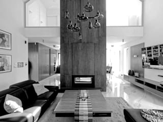 Salas de estilo moderno de Grzegorz Popiołek Projektowanie Wnętrz Moderno