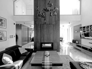 Moderne Wohnzimmer von Grzegorz Popiołek Projektowanie Wnętrz Modern