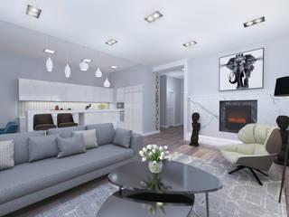 Квартира с нордическим характером. Гостиные в эклектичном стиле от Indigo дизайн Эклектичный