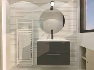 Badkamer op zolder:   door Stefania Rastellino interior design