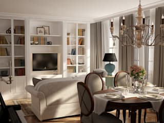 Irina Yakushina Living room Beige