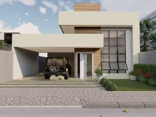 Ponte Alta, Gama - DF. Projeto de Arquitetura de Casa Térrea Casas modernas por Rudini Rodarte Arquitetura e Construção Moderno