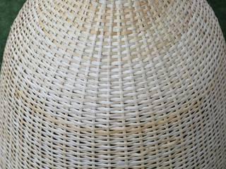 Iluminación lamparas mimbre - usos: particulares y centros comerciales de ELMIMBRE Spa - Diseño, Fabricación y Comercialización de productos en Mimbre - Región Metropolitana - Chile Rústico