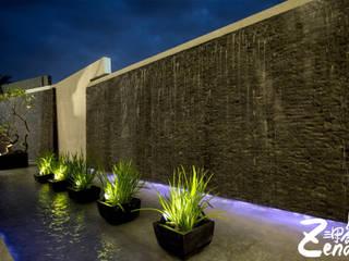 層峰:  庭院 by Zendo 深度空間設計,