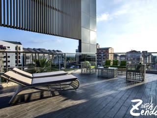 Zendo 深度空間設計 Modern balcony, veranda & terrace