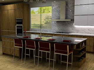 Built-in kitchens by Sixty9 3D Design, Modern