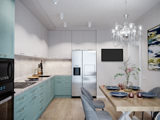 Визуализация кухни для дизайн-проекта: Встроенные кухни в . Автор – Антон Васьков