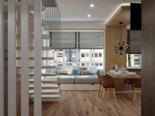 Гостиная в эко стиле Гостиная в стиле модерн от Valentina Design Модерн
