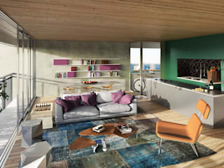 Living room by FCstudio, Modern