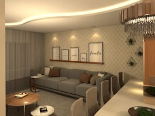 Revisite Modern living room Beige