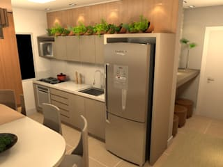 Revisite Small kitchens Wood effect