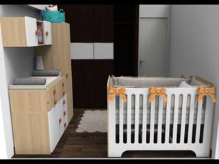 Decoración y Distribución recamaras para bebes y niñ@s.: Recámaras para bebés de estilo  por Alejandra Espinosa,