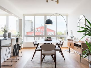 Scandinavian style dining room by Rima Design Scandinavian