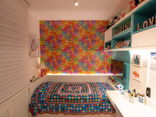 Bloco Z Arquitetura Girls Bedroom MDF Multicolored