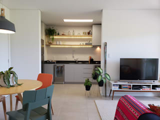 Apartamento PLM: Salas de estar  por Bloco Z Arquitetura,