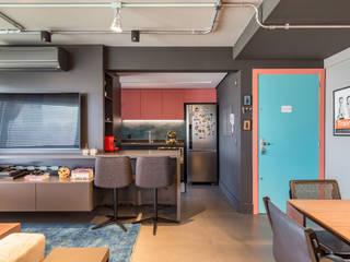 Apartamento FRV: Salas de estar  por Bloco Z Arquitetura,