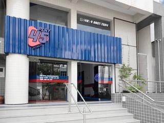 Play 45 Fitness: Lojas e imóveis comerciais  por Bloco Z Arquitetura,