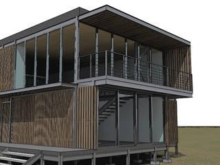 TALLER OFICINA COMPONENTE Casas estilo moderno: ideas, arquitectura e imágenes