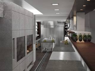 Cocina Industrial Gastronomía de estilo industrial de GA Experimental Industrial