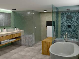 REMODELACIÓN DE BAÑO: Baños de estilo  por Miguel Mayorga