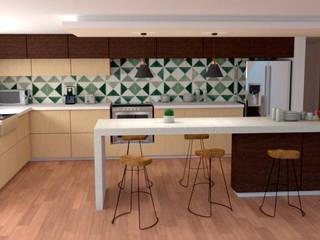 REMODELACIÓN DE BAÑO: Cocinas equipadas de estilo  por Miguel Mayorga
