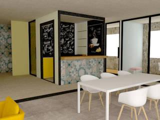 EDIFICIO DE COWORKING.: Estudios y oficinas de estilo  por Miguel Mayorga