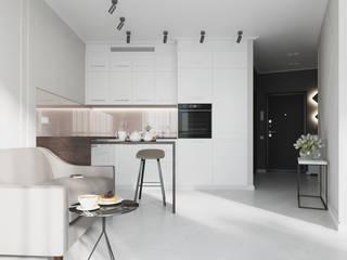 Кухня-гостиная: Маленькие кухни в . Автор – L.E.DESIGNINTERIOR