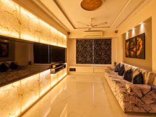Sagar Shah Architects Modern living room Amber/Gold