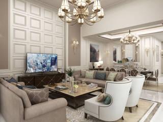 Bilgah Villa - Baku / Azerbaycan Eklektik Oturma Odası Sia Moore Archıtecture Interıor Desıgn Eklektik