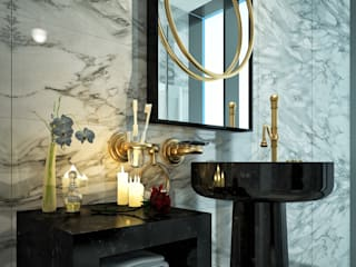 homify Modern bathroom Marble White