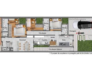 Rumah Modern Oleh PRISCILLA BORGES ARQUITETURA E INTERIORES Modern