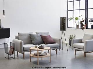 Graues Stoff Sofa 2 Sitzer: modern  von MATZ-MÖBEL,Modern