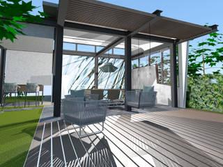Aussenterrasse in project Moderner Garten von STYLE-interior design, Ganal + Sloma Modern