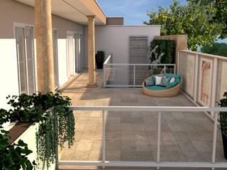 PROJETARQ Balcones y terrazas clásicos Mármol Rosa