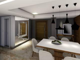 Joana Rezende Arquitetura e Arte Modern dining room Wood