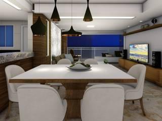 Apartamento de Cobertura com Terraço Salas de jantar modernas por Joana Rezende Arquitetura e Arte Moderno