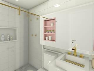 Apartamento de Cobertura com Terraço Banheiros modernos por Joana Rezende Arquitetura e Arte Moderno