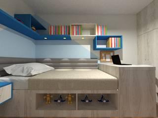 Domitorio Infantil: Cuartos pequeños  de estilo  por Inspira