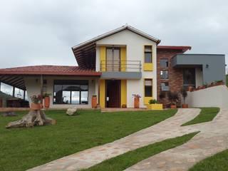 CABAÑA TRES SOLES: Casas campestres de estilo  por Ba arquitectos,