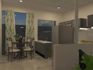 Casa Alamo Cocinas modernas de JENNGELCONSTRUCTORES Moderno