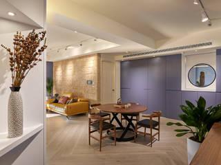 機能美生活空間~金玉情環 现代客厅設計點子、靈感 & 圖片 根據 趙玲室內設計 現代風