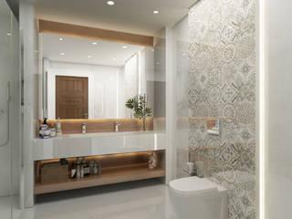 Bathroom / Lake House Sia Moore Archıtecture Interıor Desıgn Eclectic style bathroom Marble Beige